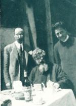 P. Semeria con il pittore D. Rescalli