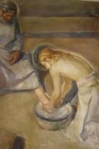 Cristo lava i piedi a P. Semeria. Chiesa dell'Istituto - Amatrice (Rieti)