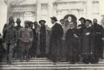 """Riunione dei cappellani e preti soldati del XX Corpo d'Armata alla """"Casa del Soldato"""" di Enego (18 luglio 1917)"""
