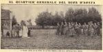 Al Quartier Generale del Duca d'Aosta. Il Principe assiste, con gli ufficiali del suo Stato Maggiore, a una messa celebrata da Padre Semeria