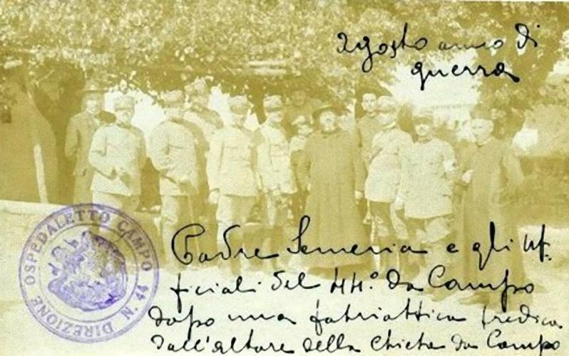 Padre Semeria e gli Ufficiali del 44° da Campo