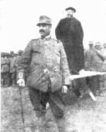 Stuccara (GO): P. Semeria prepara il 93° Reggimento Fanteria alla celebrazione delle Santa Pasqua, 7 aprile 1917.