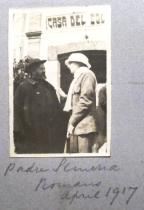 Padre Giovanni Semeria con Edith Teresa Hulton (Lady Berwick) (1890-1972) - Aprile 1917
