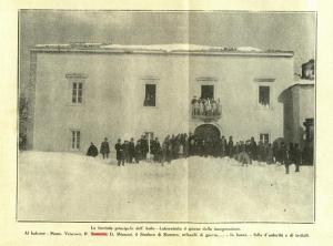 P. Semeria all'inaugurazione dell'Asilo di Rionero in Vulture