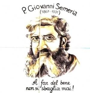 Medaglione del P. Semeria su ceramica artistica (2013)