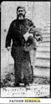 Foto del P. Semeria utilizzata, come richiamo alla raccolta fondi per gli orfani di guerra, nelle pagine dei giornali americani