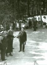 P. Semeria con Ciano in visita a Monterosso (1926).