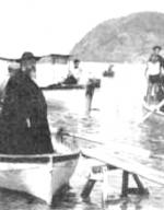 P. Semeria in barca da Levanto a Monterosso (1922)