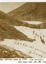 Cartolina: N.E. del Bocchino dell'Aseo quota m. 2100 (Alpi Marittime) da lastra Anti Alo M. Cappelli - Milano