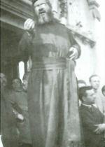 P. Semeria mentre parla all'inaugurazione della cappella di Primolano.
