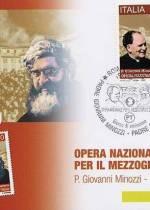 Cartolina con annullo filatelico. Padre Giovanni Minozzi - Padre Giovanni Semeria. Obliterata 19.10.2009