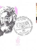 Busta con annullo filatelico. Padre Giovanni Minozzi - Padre Giovanni Semeria. Obliterata 19.10.2009