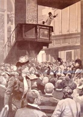 P. Semeria predica nella Chiesa di S Marco a Milano (1901)