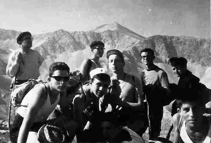 Discepolini in montagna a Ofena (AQ)