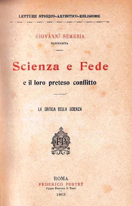 Scienza e Fede e il loro preteso conflitto (1903)