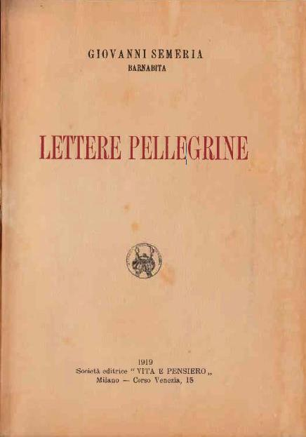 Lettere Pellegrine (1919)