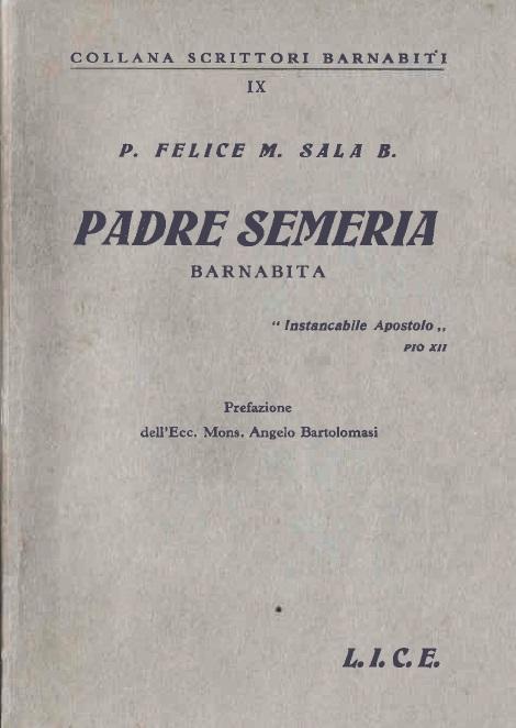 "P. Felice M. Sala B. ""Padre Semeria Barnabita""  (1941)"