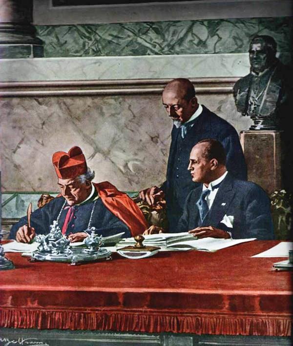 La firma dei Patti Lateranensi (1929)