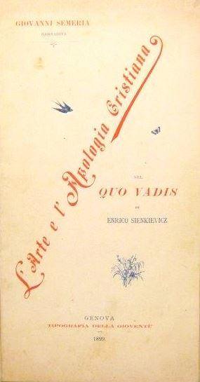 """""""L'arte e l'apologia cristiana nel """"Quo vadis"""" di Enrico Sienkievicz"""" (1900)"""