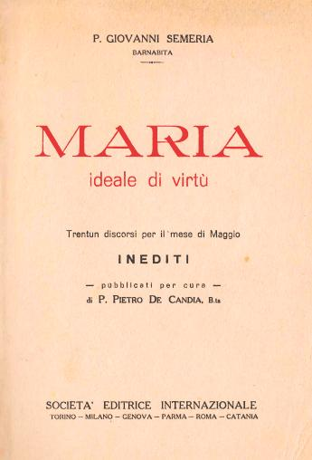 """Maria ideale di virtù"" (1934)"