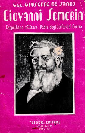 """G. De Sando """"Giovanni Semeria cappellano militare, padre degli orfani di guerra: Ricordi ed aneddoti"""" (1934)"""