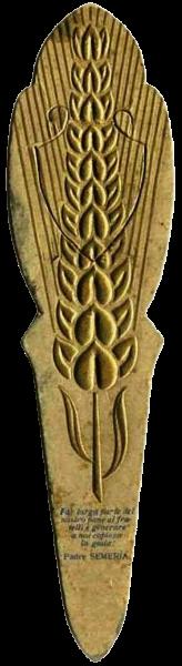 Segnalibro con spiga di grano