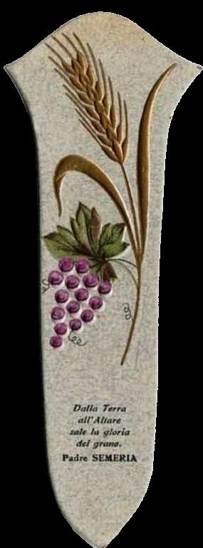 Segnalibro con spiga di grano e grappolo d'uva